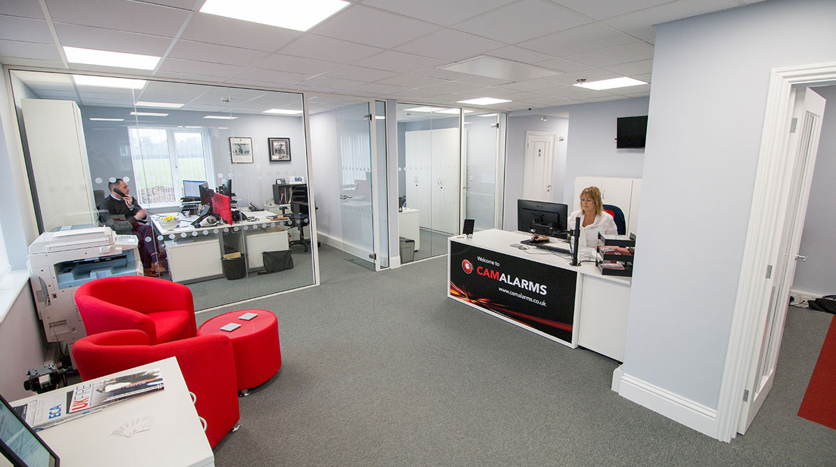CamAlarms reception area