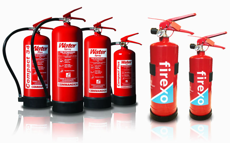 Fire extinguishers supplied by CamAlarms