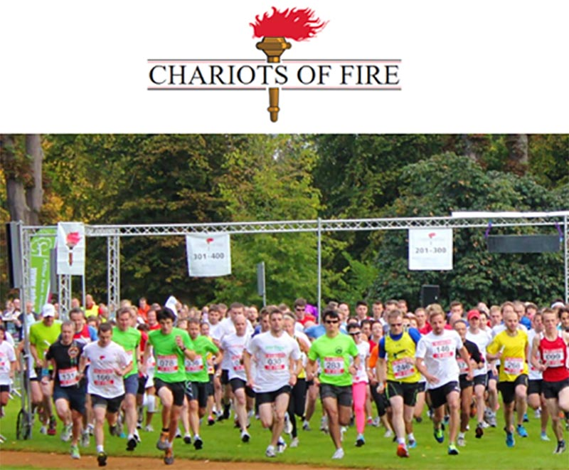 CamAlarms team will be competing in the Chariots of Fire race