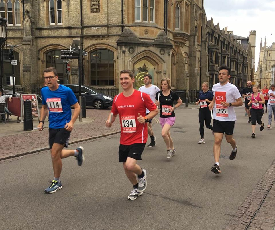 Chris Malins- CamAlarms Chariots of Fire running team