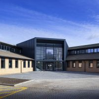 Fire alarm and video entry access control systems for new Cambridge Science Park building