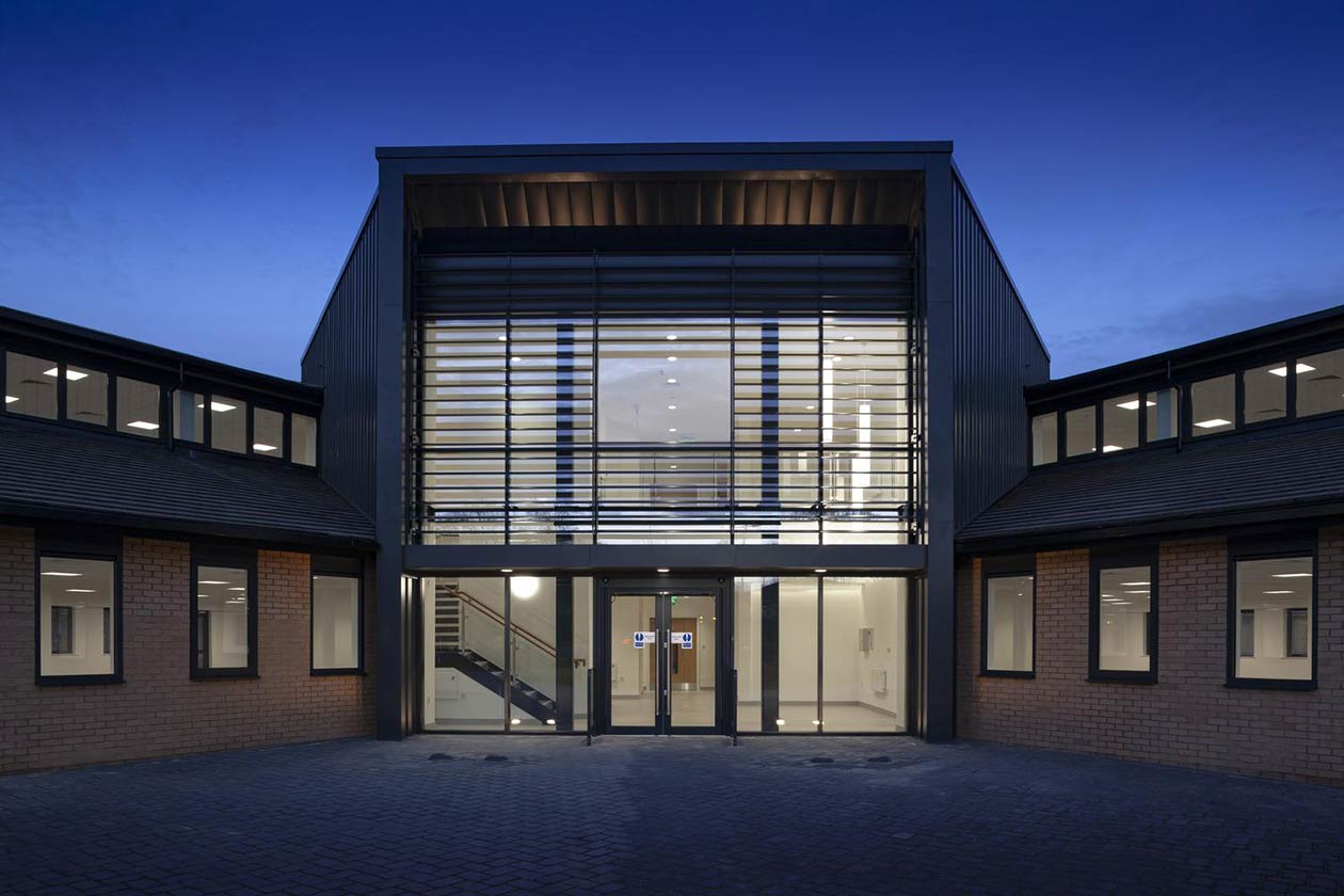new fire alarm and video entry access control systems on site at Building 330, Cambridge Science Park